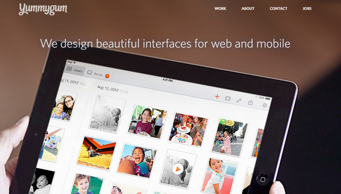 yummygum creative agency website homepage