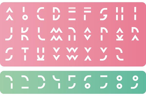 Laura font letters