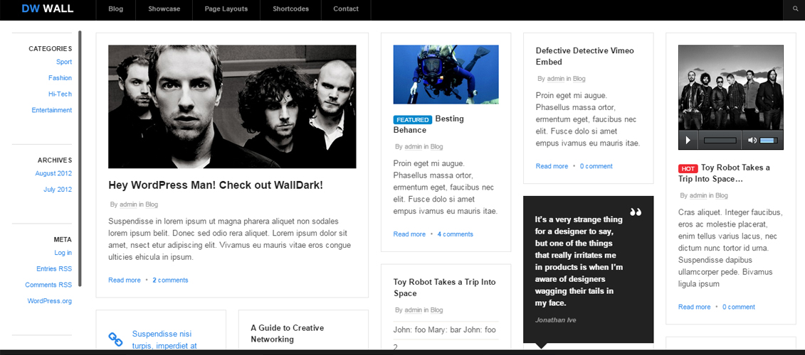 WallPress - Free WordPress Theme