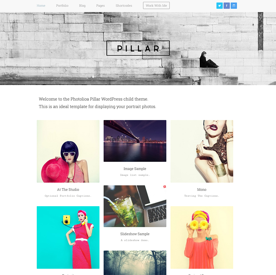 23 Perfectly Minimal Portfolio Themes