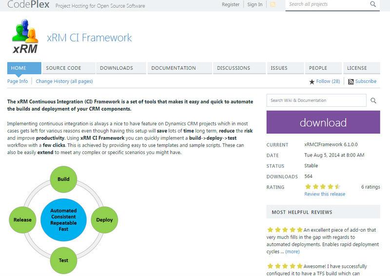 xRM CI Framework