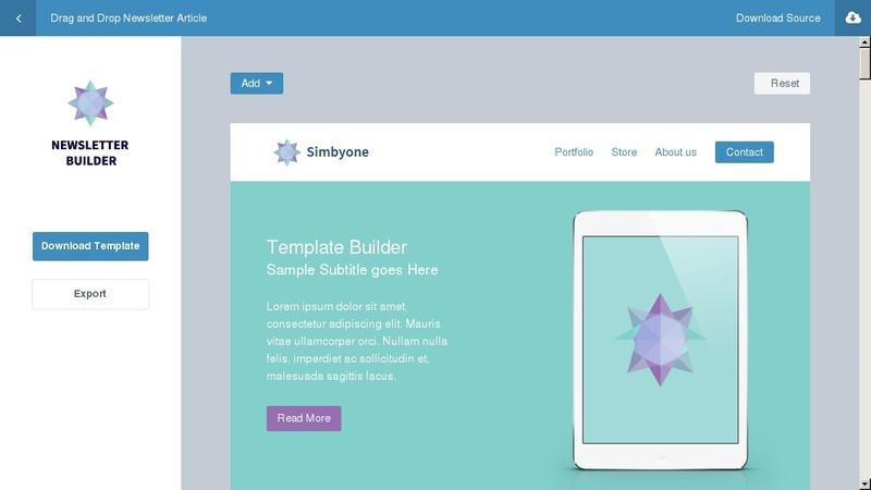Simbyone Newsletter Builder