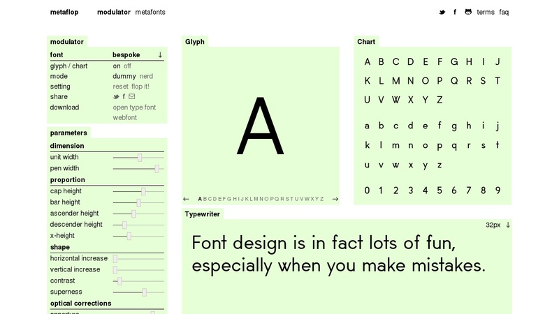 Modulator: Create Your Own Font Designs