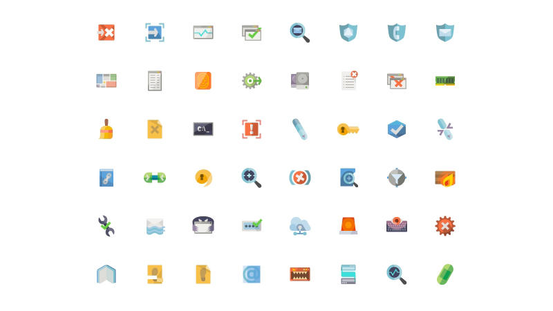 Flat Security Icons