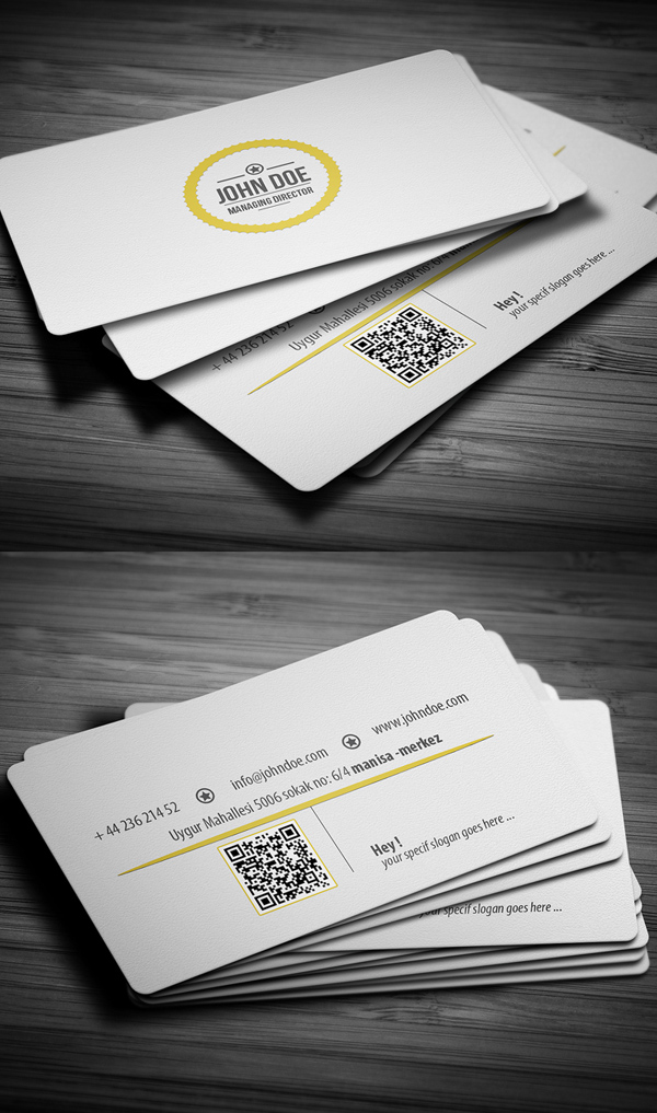 White Professional Business Card