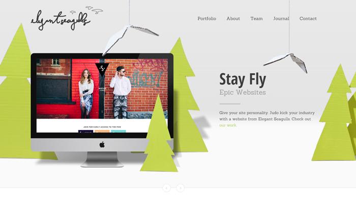 elegant seagulls creative homepage layout