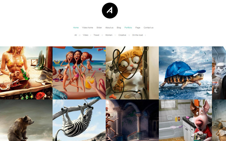 antanta minimalism portfolio theme
