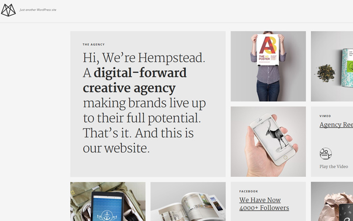 hempstead wordpress wp portfolio theme