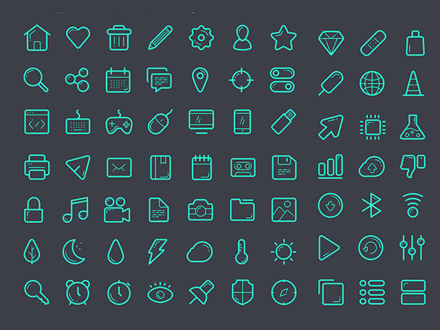 Glassy icon set – Sketch