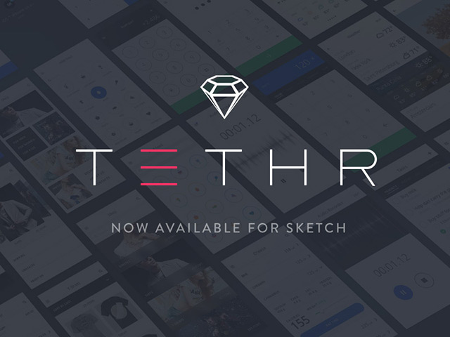 Tethr – Free UI kit for iOS