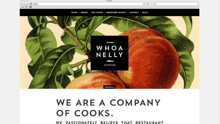 Whoa Nelly Catering Branding & Website by Cody Small