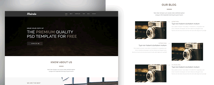 One Page Corporate Agency Template