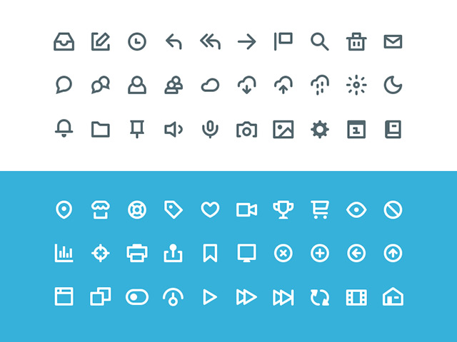 Vicons – 60 Sketch icons
