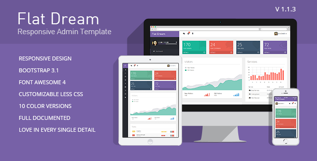 flat dream - responsive admin template
