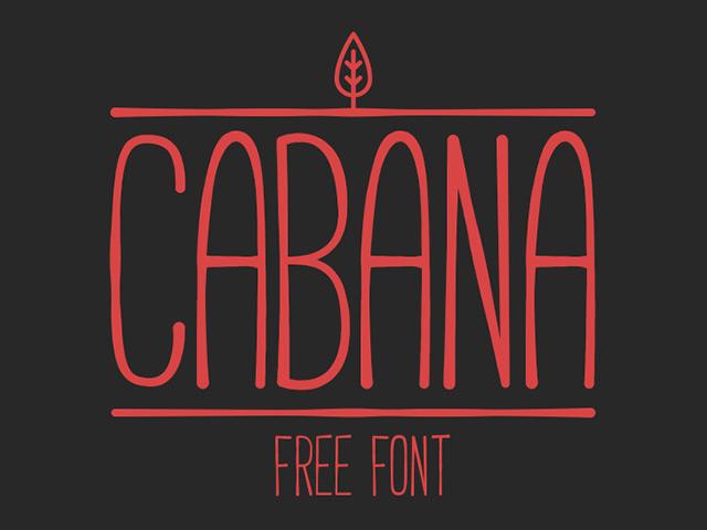 Cabana free font