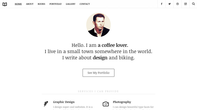 Readme is a responsive WordPress theme focused on readability with a minimalist design and optimized for mobile.