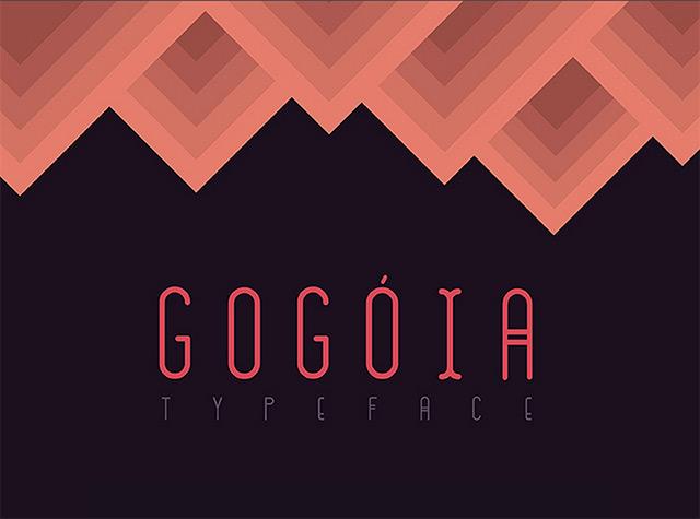 Gogóia free font