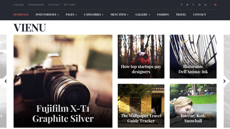 Vienu is a nicely designed magazine theme with beautifully executed modular design approach in mind.