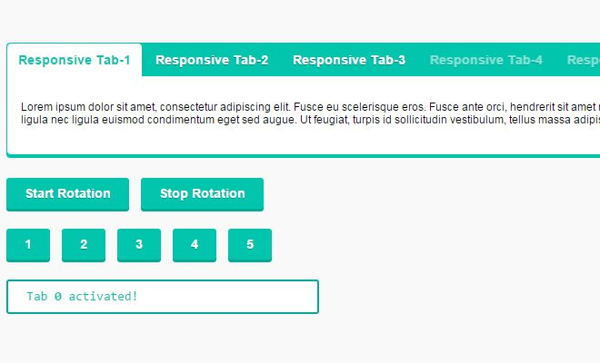 jquery responsive tabs open source