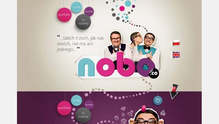 Cool Web Design on the Internet - nobo