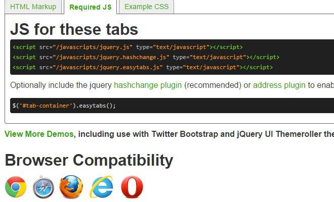 easytabs jquery plugin design