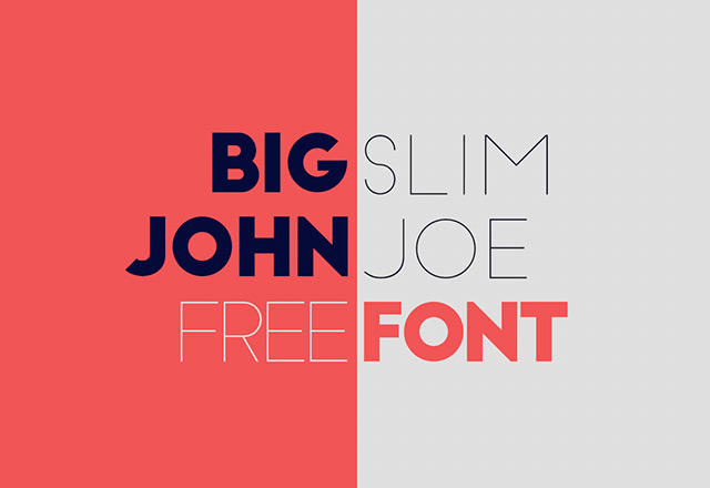 Big John  Slim Joe – Free font
