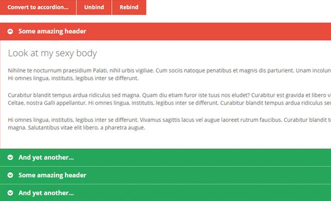 jquery magic accordion menu plugin