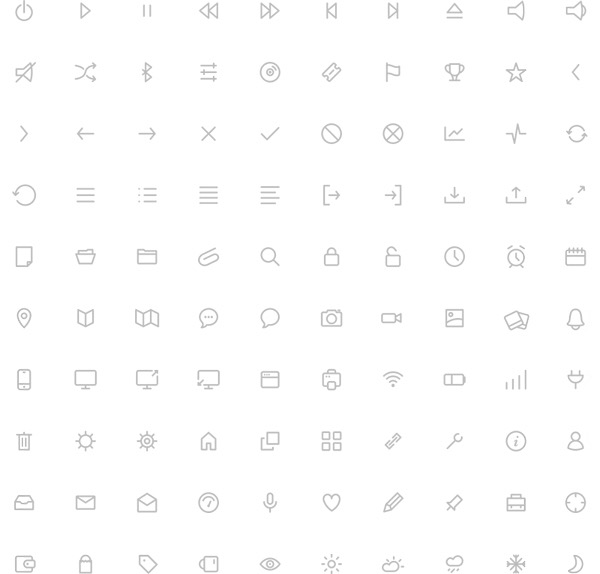 Free Download : Minimalistic Icon Set