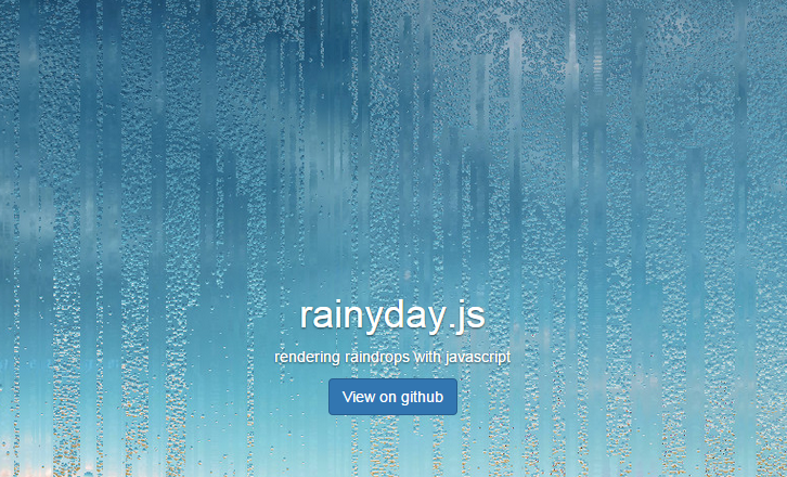 Rainyday.js – Rendering Raindrops with JavaScript
