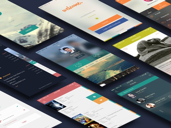 Free Download : iCollection UI Kit – 38 PSD Screens