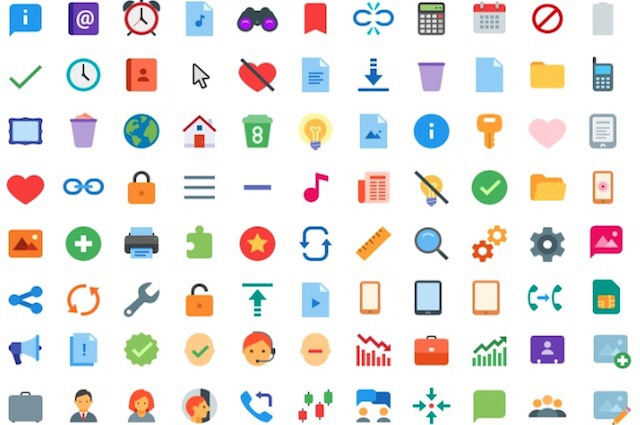 Freebie: 300+ Free Flat Color Icons