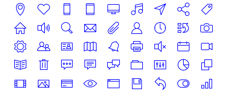 77 Essential Icons