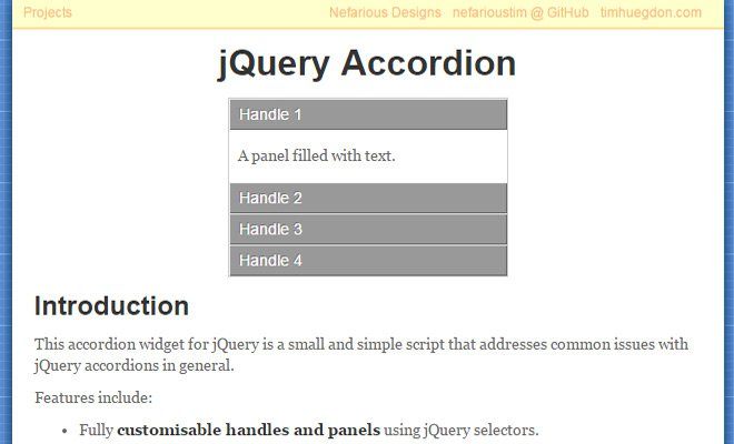 simple accordion jquery plugin