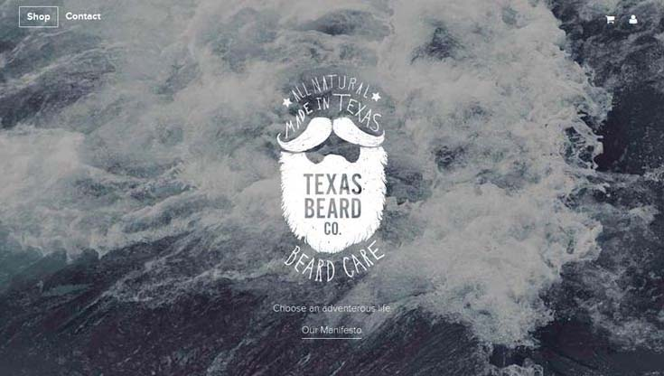 Cool Web Design on the Internet, Texas Beard Co