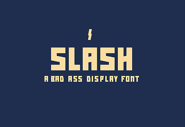 Slash free font