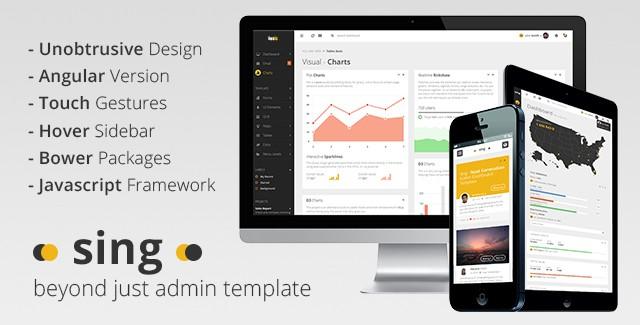 Sing - Web & Angular Dashboard