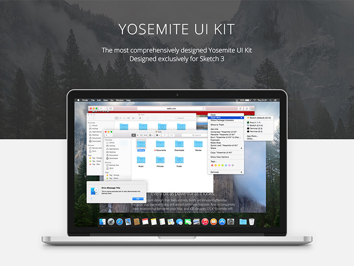 Yosemite UI kit – Sketch