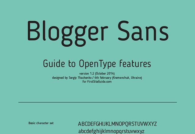 Blogger Sans free font