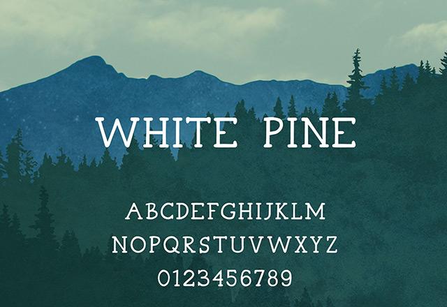 White Pine free font