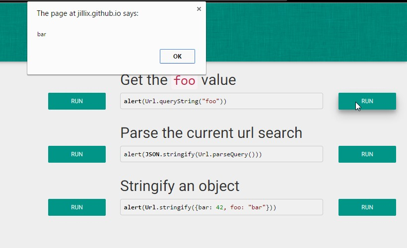 Url.js: JavaScript Library to Manipulate the Page URL
