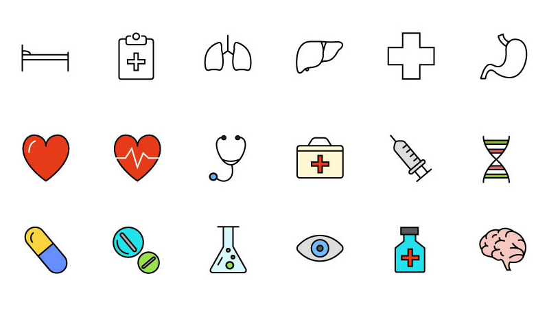 30 Free Medical and Science Icons