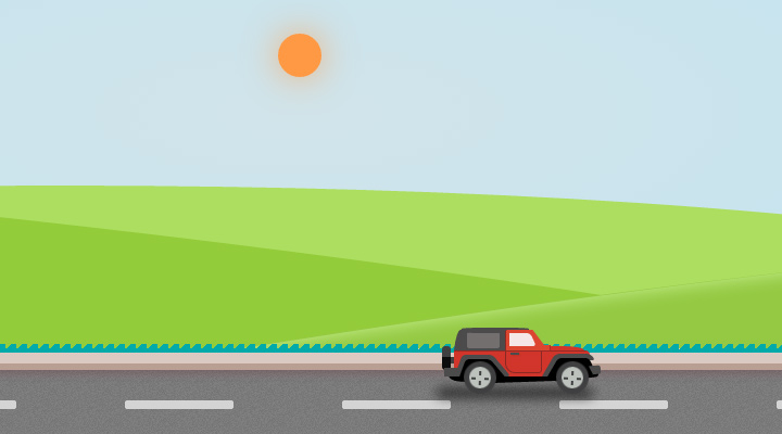 css3 parallax animated car graphic