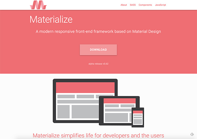 Materialize – Material Design framework
