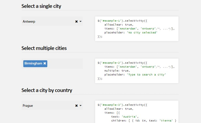 Selectivity.js: Neat Selection Library for JQuery and Zepto