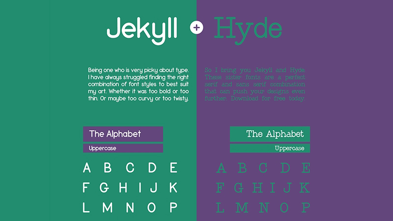 Jekyll and Hyde Sister Fonts