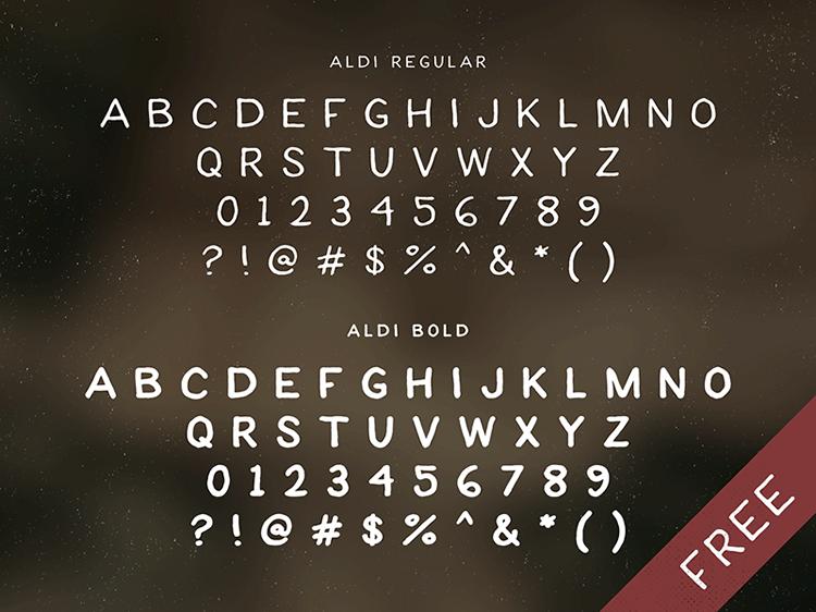 ALDI Handwritten Sans-Serif