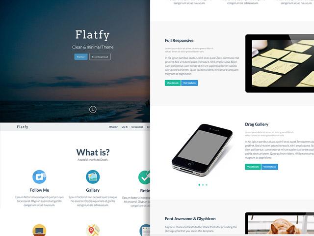 Flatfy – Flat minimal HTML template