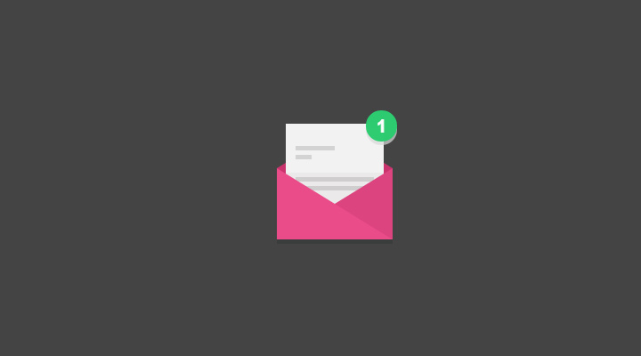 pink letter css3 animated icon