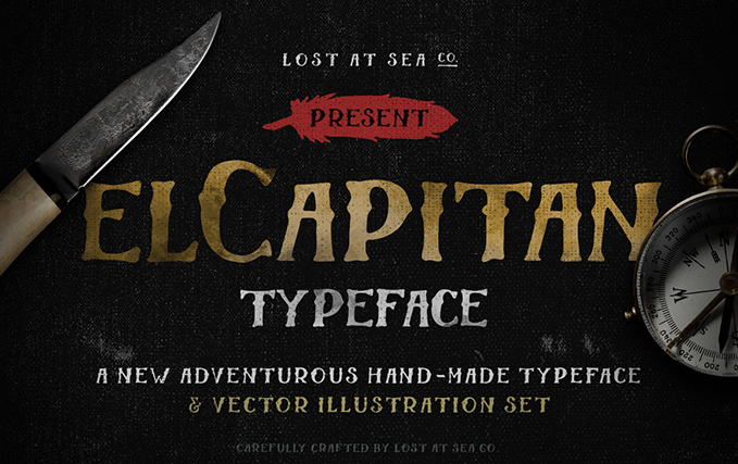 El Capitan Hand-Drawn Font