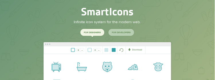 SmartIcons, infinite icon system for the modern web